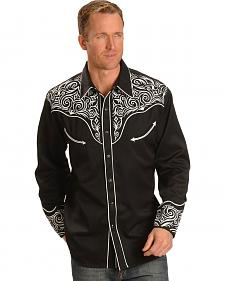 Scully Full Stitched Yoke Retro Western Shirt
