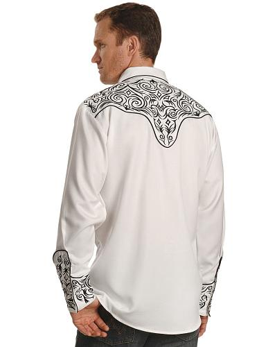 Scully Fancy Full Stitched Retro Western Shirt $75.00 AT vintagedancer.com