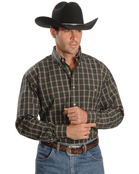 Wrangler George Strait Tartan Plaid Shirt