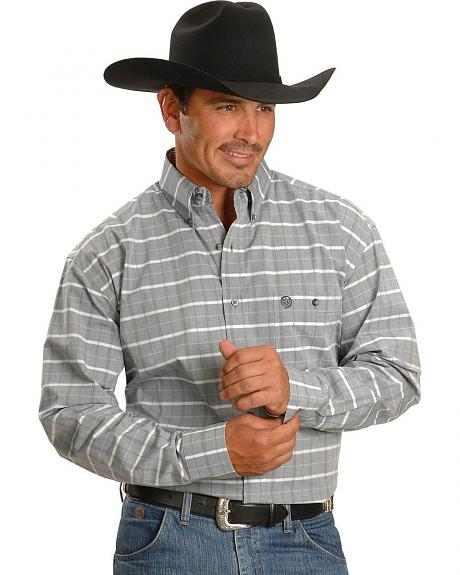 Wrangler George Strait Grey Plaid Shirt