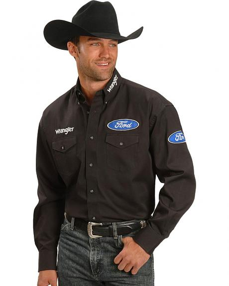 Wrangler Ford Logo Rodeo Shirt