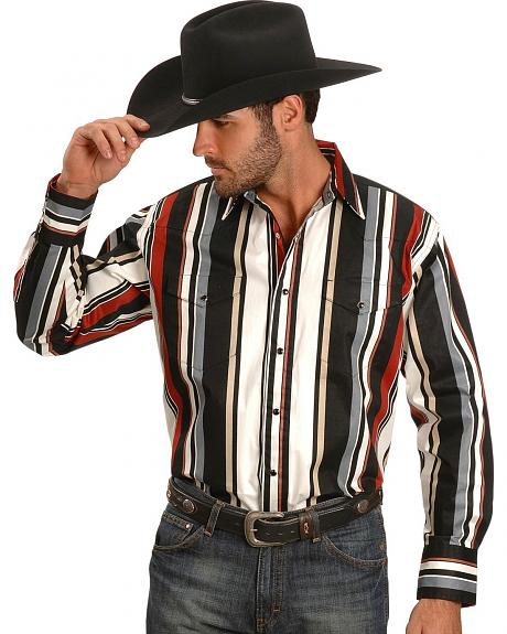 Wrangler Striped Brushpopper Shirt