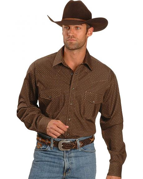 Cinch � Brown Print Weave Shirt