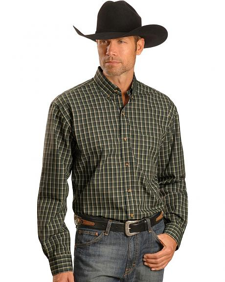 Exclusive Gibson Trading Co. Green & Gold Plaid Shirt