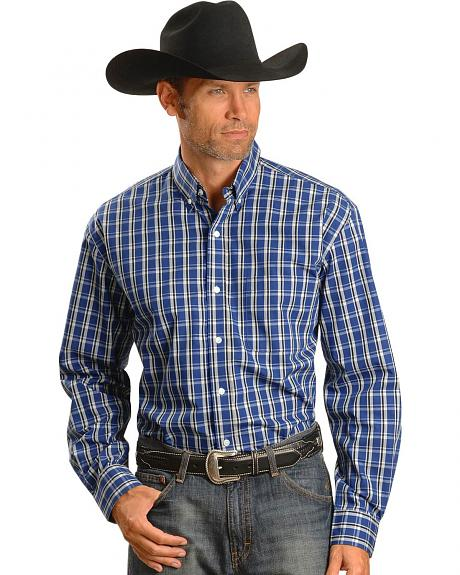 Exclusive Gibson Trading Co. Blue & Black Plaid Shirt