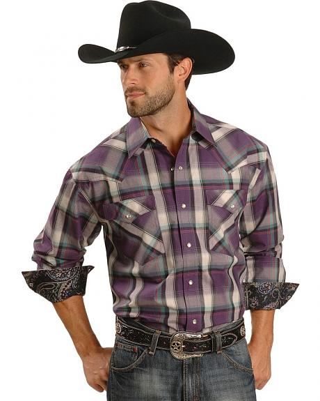 Roper High Vista Plaid Snap Shirt - Reg