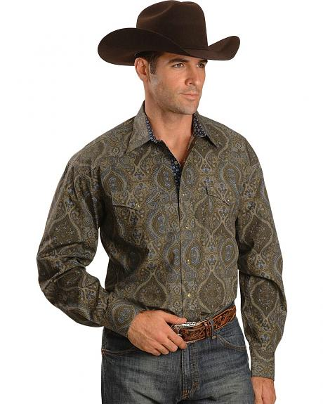Stetson Persian Paisley Long Sleeve Snap Western Shirt