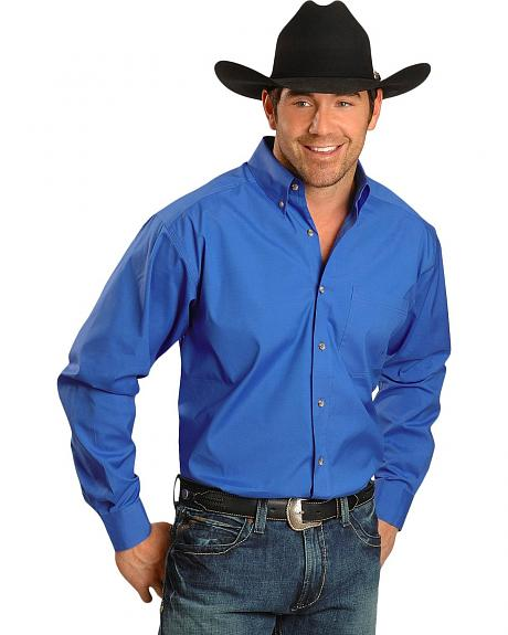 Ariat Blue Swept Solid Performance Shirt