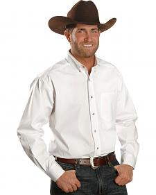 Ariat Performance White Solid Poplin Shirt