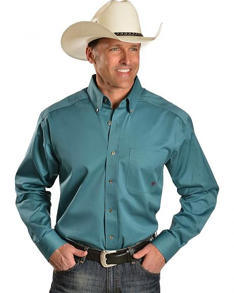 Ariat Blue Yonder Solid Twill Shirt