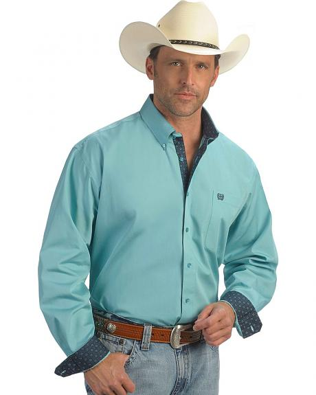 Cinch � Aqua Solid Weave Shirt