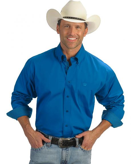 Cinch � Blue Solid Weave Shirt
