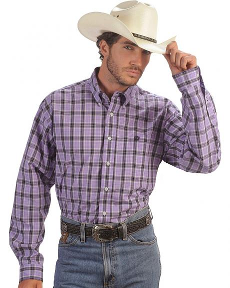 Cinch � Purple Plaid Weave Shirt
