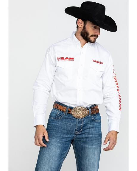 Wrangler Solid RAM Logo Long Sleeve Shirt