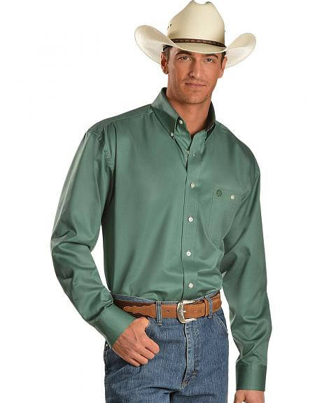 Wrangler George Strait Solid Green Shirt