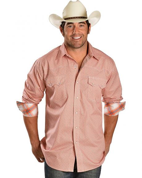 Roper Sunset Orange Snap Western Shirt