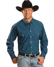 Miller Ranch Blue & Green Check Long Sleeve Western Shirt