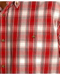 Gibson L/S red/white plaid shirt w/buttons at Sheplers