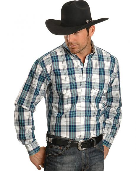 Exclusive Gibson Trading Co. Blue & White Plaid Long Sleeve Shirt
