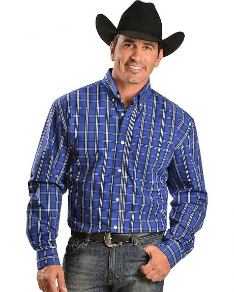 Exclusive Gibson Trading Co. Royal Blue Plaid Shirt