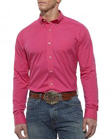 Ariat Performance Hot Pink Solid Poplin Shirt