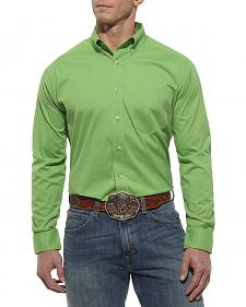 Ariat Lime Green Poplin Shirt