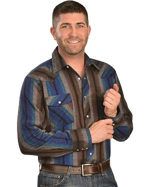 Wrangler Assorted Striped 4.5 oz. Flannel Long Sleeve Shirts
