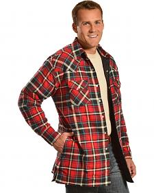 Ely Cattleman Quilted Flannel Jacket Shirts - Reg