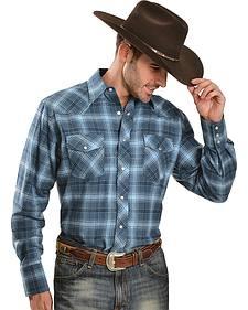 Wrangler Blue Plaid 4.5 oz. Flannel Shirt