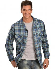 Pendleton Blue & Grey Plaid Classic Board Shirt - Reg