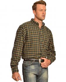 Woolrich Trout Run Black Forest Pine Plaid Flannel Shirt