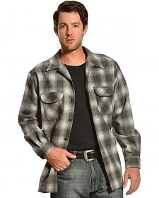 Pendleton Black and Charcoal Plaid Board Wool Shirt