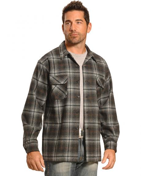 Pendleton Men's Grey Plaid Board Shirt