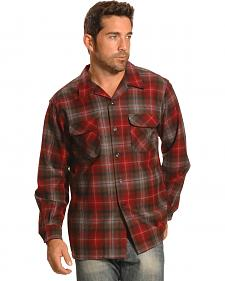 Pendleton Men's Red Plaid Board Shirt