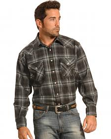 Pendleton Men's Grey Plaid Snap-Front Western Canyon Shirt
