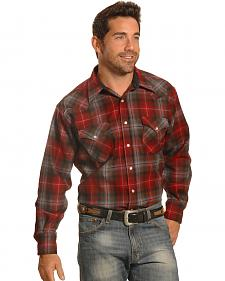 Pendleton Men's Red Plaid Snap-Front Western Canyon Shirt