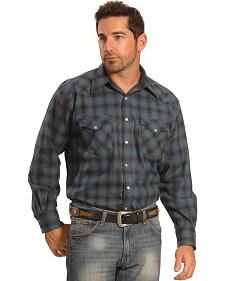 Pendleton Men's Blue Plaid Snap-Front Western Canyon Shirt