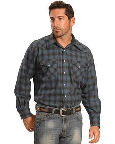 Pendleton Men's Blue Plaid Snap-Front Western Canyon Shirt