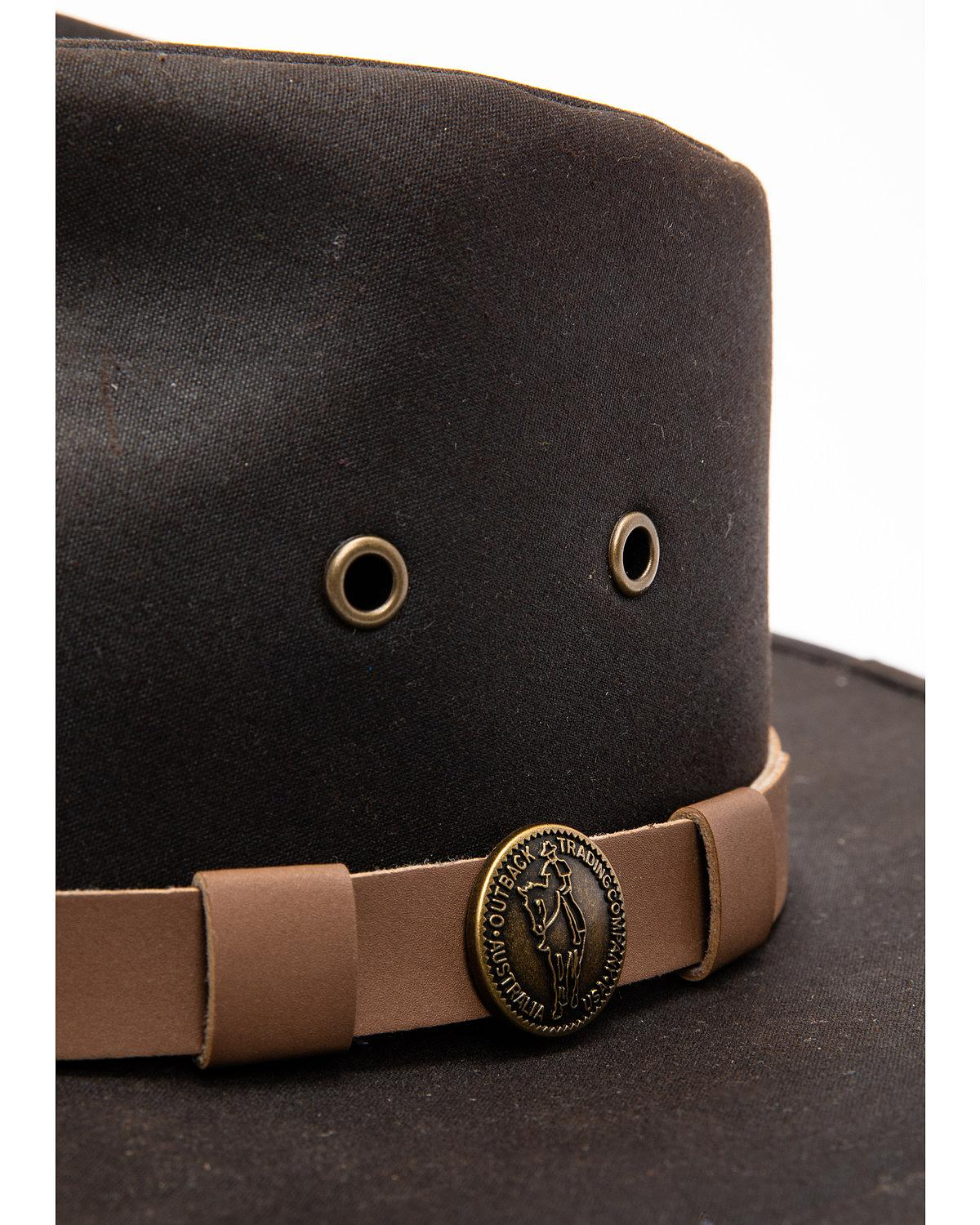 1480 BROWN Outback Trading Co Kodiak Oilskin Hat