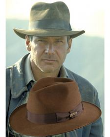 Indiana Jones Fur Felt Fedora Hat