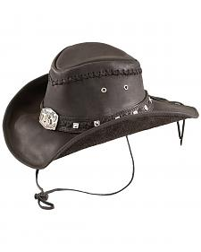 Bullhide Thunderstruck Leather Cowboy Hat
