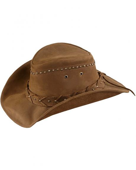 Bullhide Burnt Dust Distressed Leather Hat