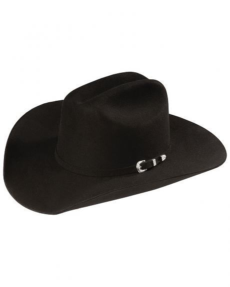 Sheplers Exclusive - Justin 4X Cody Black Fur Felt Western Hat