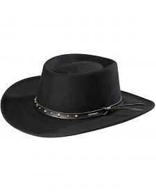 Stetson Black Hawk Crushable Wool Gambler Hat