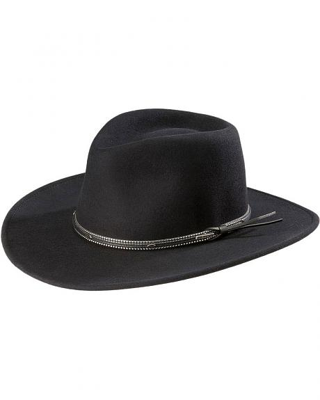 Stetson Black Bart Crushable Wool Cowboy Hat