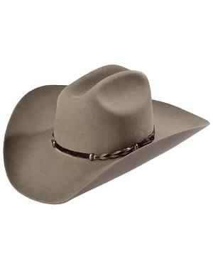 Stetson Stone Portage 4X Buffalo Felt Cowboy Hat