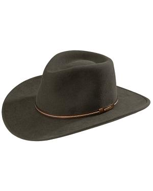 Stetson Gallatin Sage Green Crushable Wool Hat