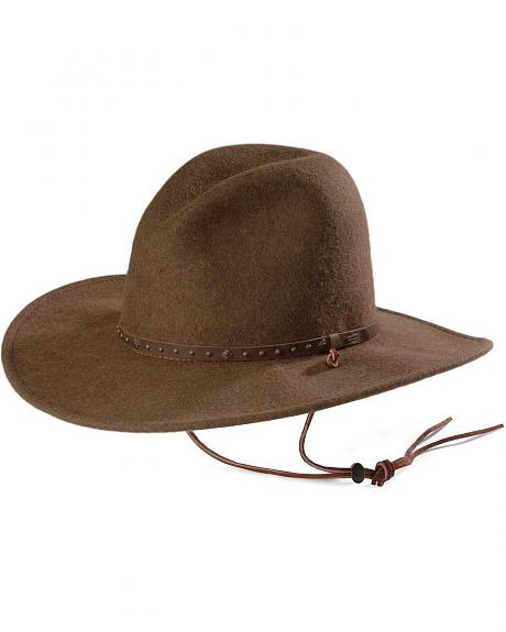 Stetson Lonesome Trail Slope Crushable Wool Western Hat