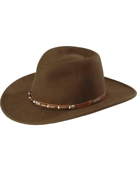 Stetson Auburn Crushable Wool Felt Western Hat