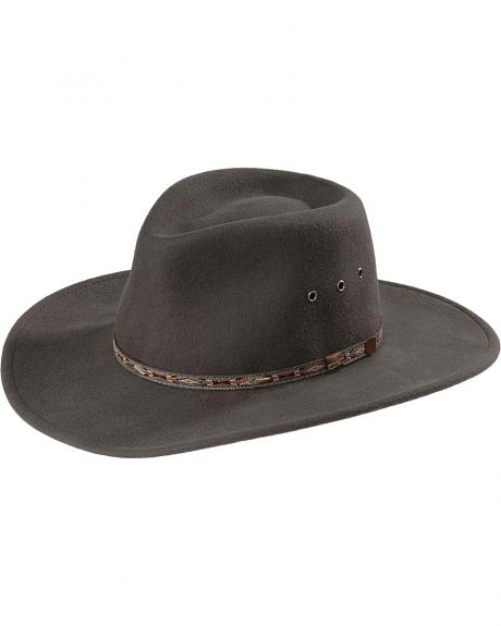 Stetson Elkhorn Crushable Wool Felt Hat